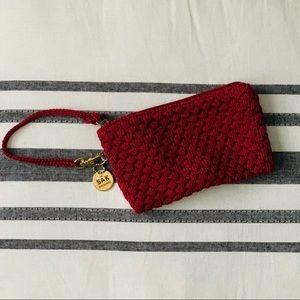 The Sak crochet wristlet